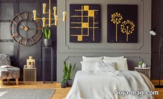 انواع نمونه های خاص طراحی اتاق خواب طوسی