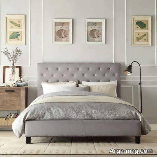 انواع نمونه های فوق العاده طراحی اتاق خواب طوسی
