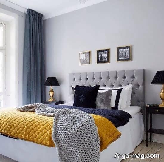 نمونه هایی فوق العاده و شیک از طراحی اتاق خواب طوسی