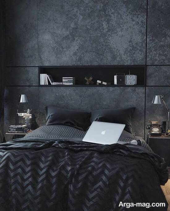 نمونه هایی خارق العاده از دیزاین اتاق خواب طوسی