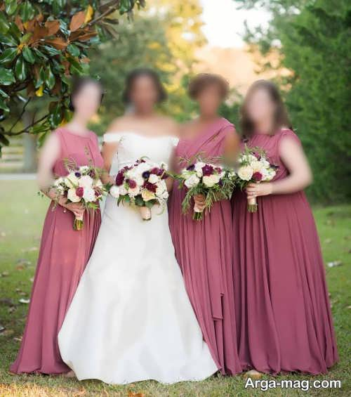 مدل ست لباس عروس با ساقدوش