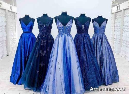 ست لباس آبی برای ساقدوش عروس