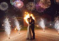 آتش بازی در مراسم عروسی