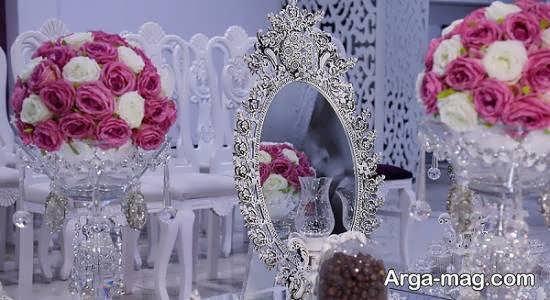 تزیین آینه سفره عقد برای عروس و داماده های خوش سلیقه