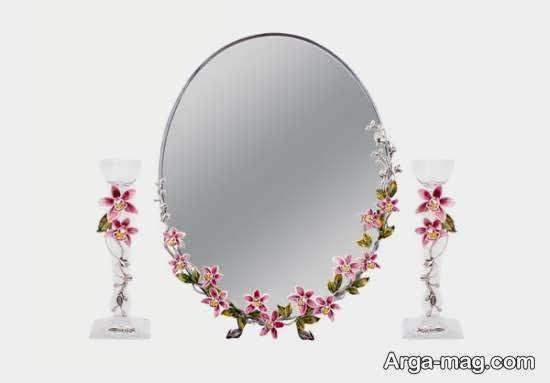 انواع نمونه های لاکچری دیزاین آینه سفره عقد