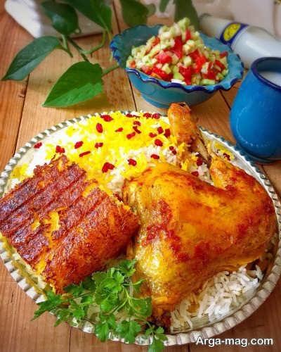 زرشک پلو با مرغ خوشمزه