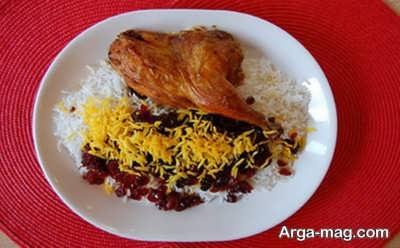 زرشک پلو لذیذ با مرغ