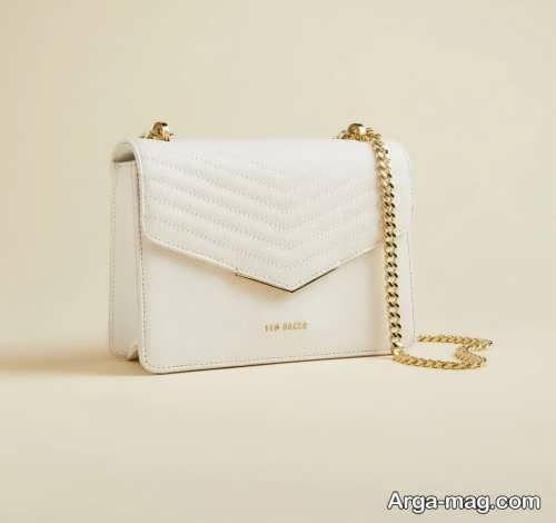 مدل کیف سفید شیک و زیبا