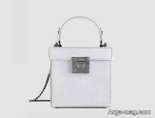 کیف ساده سفید