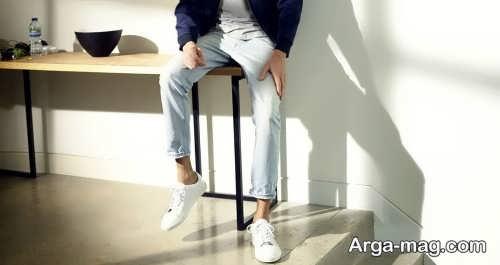 ست کفش سفید و شیک مردانه