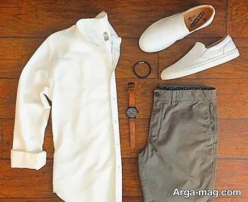 ست کفش سفید با پیراهن سفید