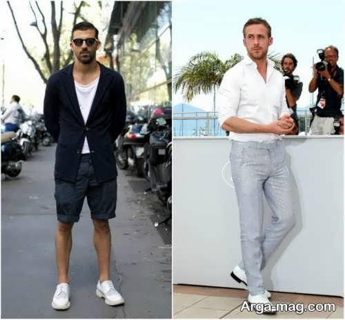 ست کفش مردانه سفید و شیک