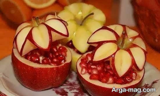 تزیین گلابی و سیب