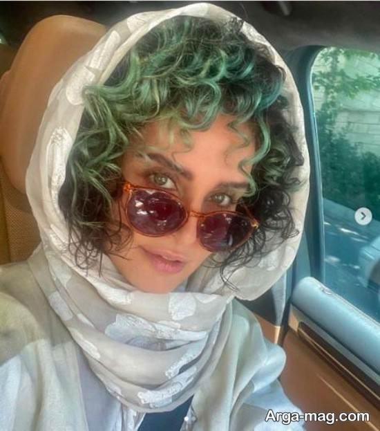 shakerdoost2 - عکس های جذاب الناز شاکردوست با موهای سبز