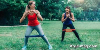 انواع حرکات ورزشی با کش