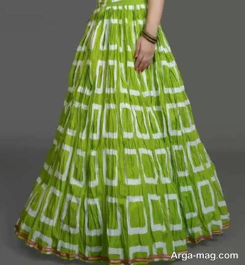 مدل دامن نخی سبز