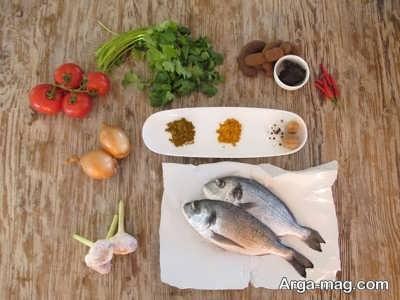 مواد لازم برای تهیه قلیه ماهی