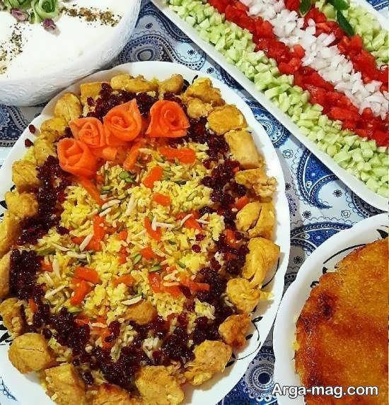 انواع نمونه های جذاب تزیین هویج پلو
