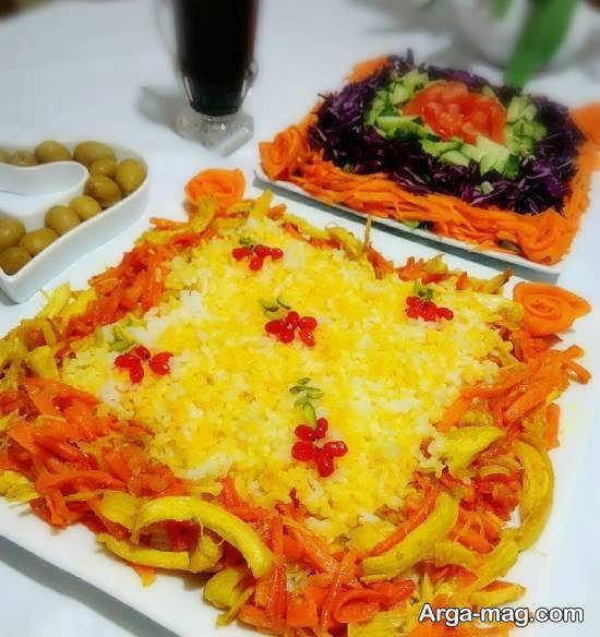 تزیینات زیبا و دوست داشتنی هویج پلو