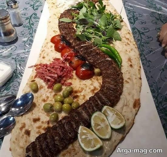 تزیینات ناب برای کباب کوبیده