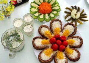 تزیین کباب کوبیده برای مهمانی ها