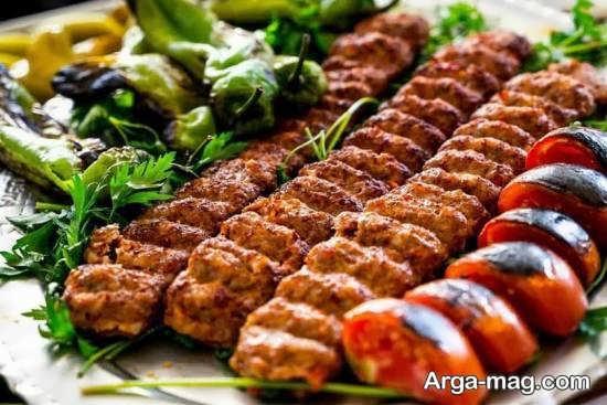 تزیینات اشتهابرانگیز کباب کوبیده