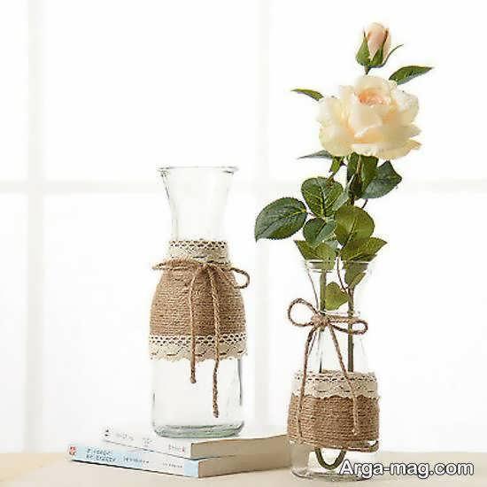 روش های جذاب برای دیزاین گلدان با کنف