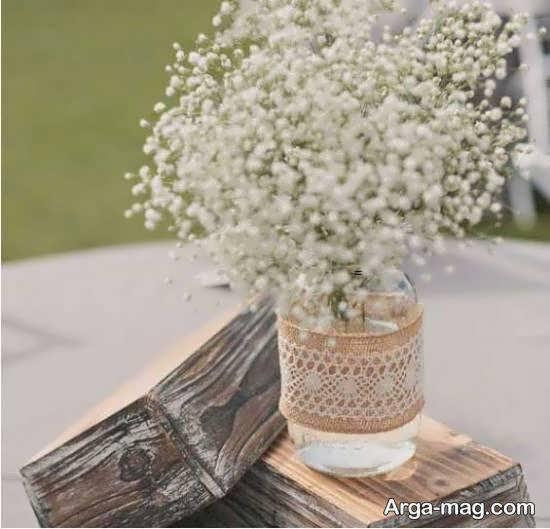 انواع ایده های لاکچری تزیین گلدان با کنف
