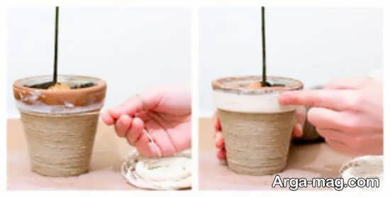 ایده های متنوع دیزاین گلدان با کنف