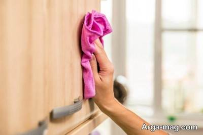 تمیز کردن کابینت با جوش شیرین