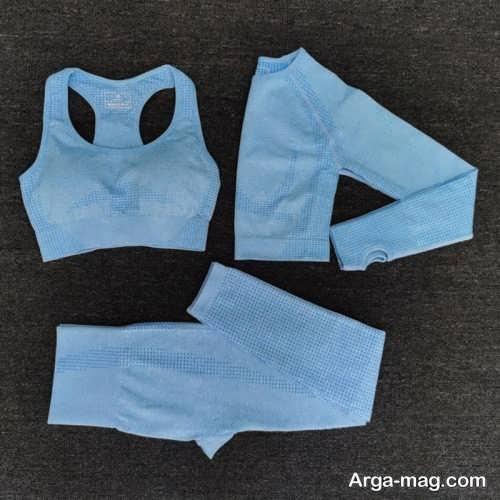 ست لباس ورزشی آبی