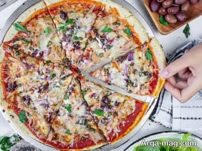 آموزش طرز تهیه پیتزا تن ماهی