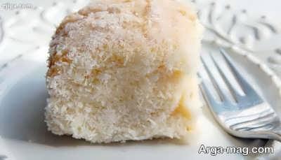 طرز تهیه کیک نارگیلی خیس خوشمزه