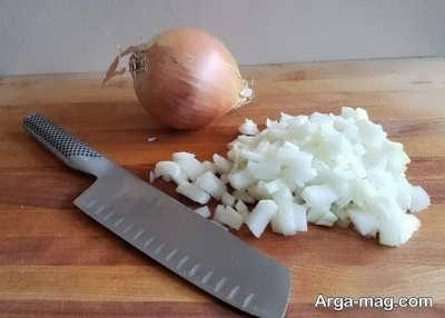 مواد لازم برای تهیه خورش بادام زمینی