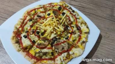 طرز تهیه پیتزا رست بیف با گوشت راسته