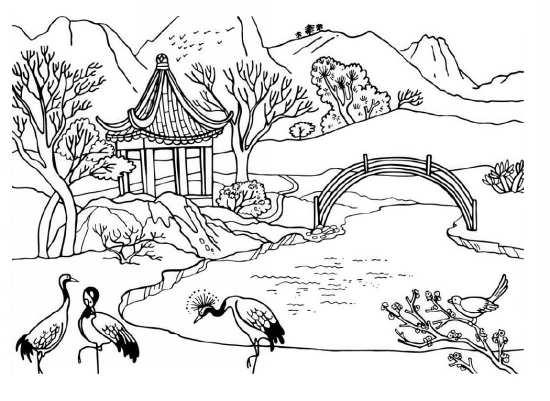 نقاشی جالب منظره