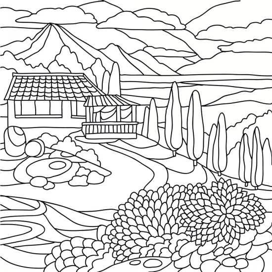 نقاشی منظره با طرح های خاص