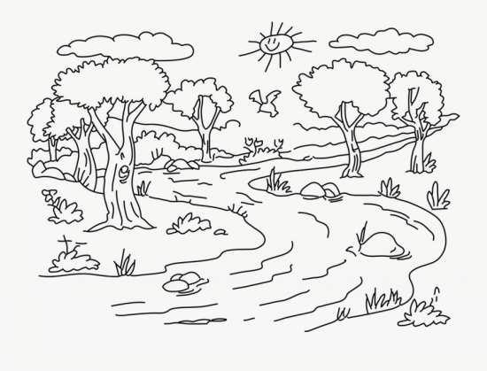 نقاشی جالب منظره مخصوص کودکان