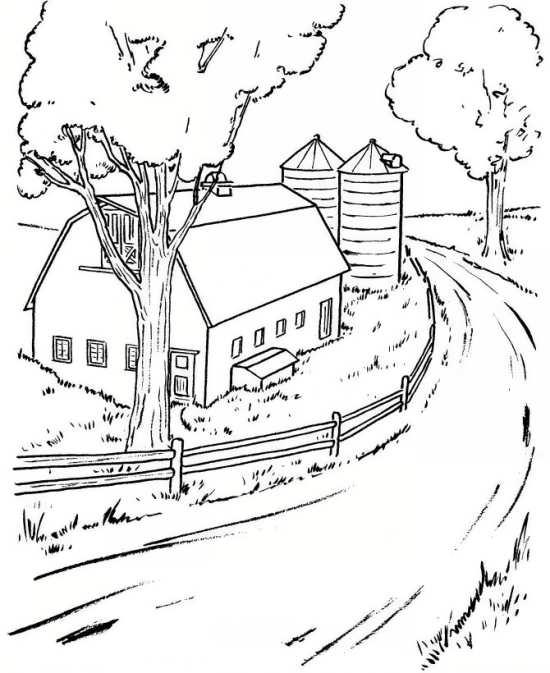 نقاشی منظره برای کودکان