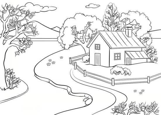 نقاشی جالب و مهیج منظره برای بچه ها