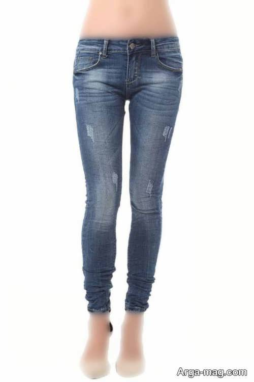 شلوار فاق کوتاه جین