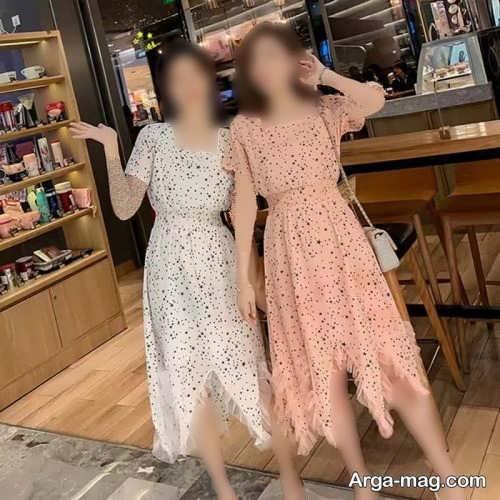 سارافون زنانه چین دار