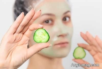 استفاده از خیار برای پوست