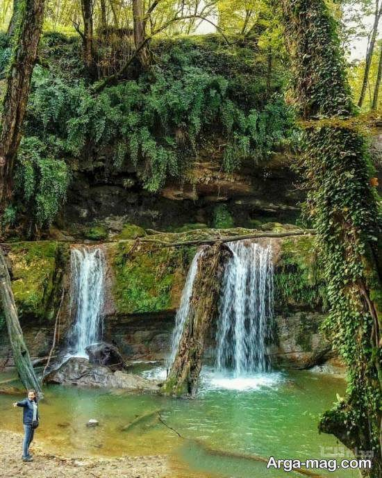 آبشار تیرکن واقع در شهرستان بابل
