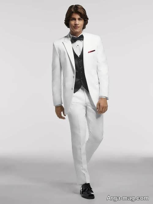 کت و شلوار سفید مردانه