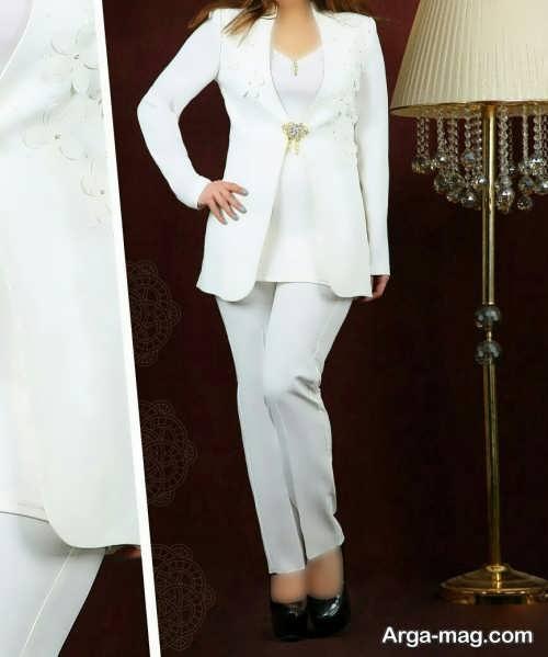 کت شلوار سفید مجلسی