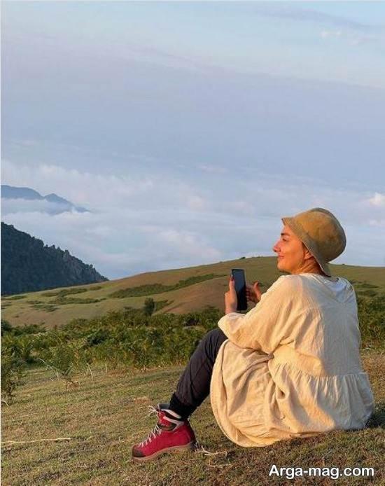 عکس های یهویی از هانیه توسلی در طبیعت