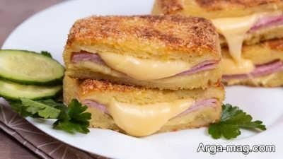 نحوه پخت ساندویچ سیب زمینی با پنیر