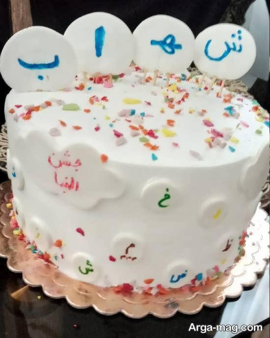 انواع نمونه های تزیین کیک جشن الفبا