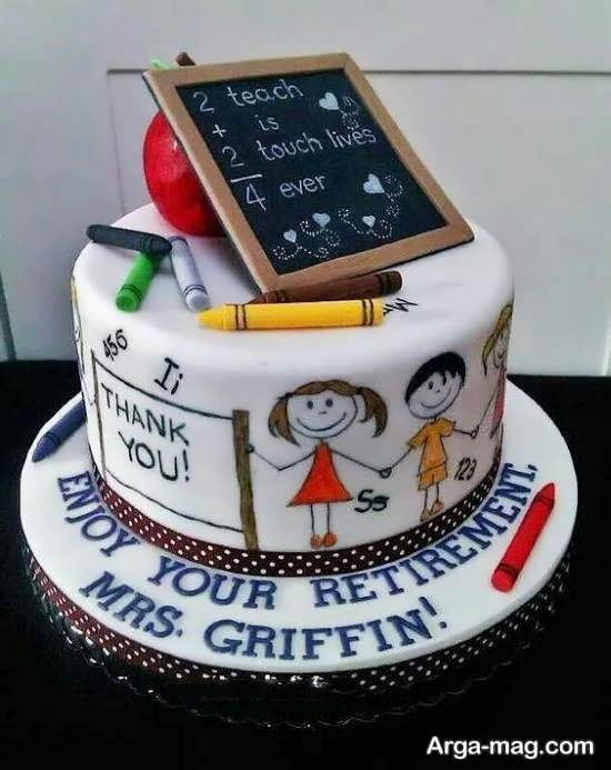 انواع نمونه ها و طرح های دوست داشتنی تزیین کیک جشن الفبا